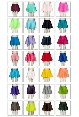 ADAGIO Girls Ladies Ballet Dance Circular Pull On Skirt Dancewear LYCRA XS to XL