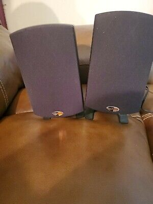 2 Klipsch ProMedia 2.1 THX Certified Satellite  Speakers these Sound Great Wired