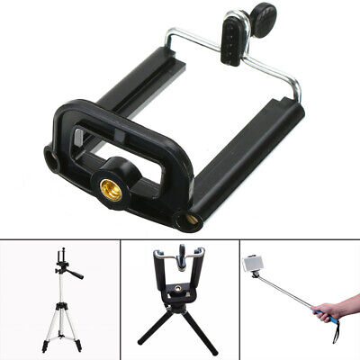 Phone Clip Adapter For Camera Monopod Tripod Stand Mount Bracket Holder Support