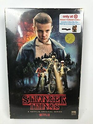 STRANGER THINGS Season 1 Blu Ray DVD Target Exclusive VHS Packing & Poster
