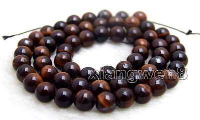 SALE small 6mm Red Round natural tiger's-eye gemstone Beads strand-los695
