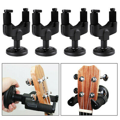 4x Guitar Hanger Wall Mount Stand Bracket Hook Holder for Ukulele Acoustic Bass