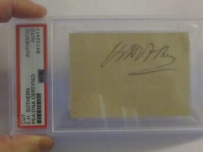 E.H. Southern PSA/DNA Certified Autograph Signed Cut