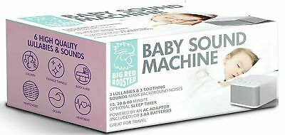 Big Red Rooster Baby Sound Machine, 6 Sounds, White - Delivery from Sydney