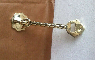 Antique Solid Brass Georgian Door Entrance Pull Latch, Door Latch