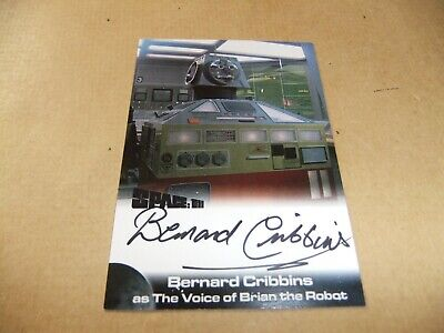Gerry Anderson Space 1999 2 Bernard Cribbins Bc1 Autograph Card Unstoppable