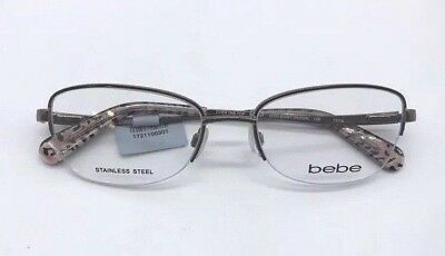 Bebe Over the Top BB5107 Authentic Eyeglasses Frame 52-18-135 Shiny Brown 210