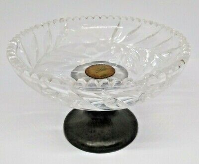 Knighthood Pewter And Cut Glass Bowl VINTAGE RARE