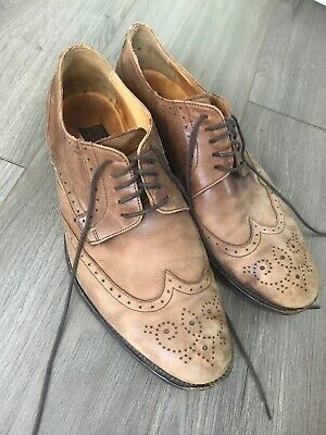 b800876f0af72 MERCANTI FIORENTINI BROWN Leather Fashion Oxfords Sneakers Shoes ...