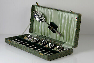 Incredibly rare YEOMAN Silver plated EPNS desert cutlery set of 13 - perfect vin