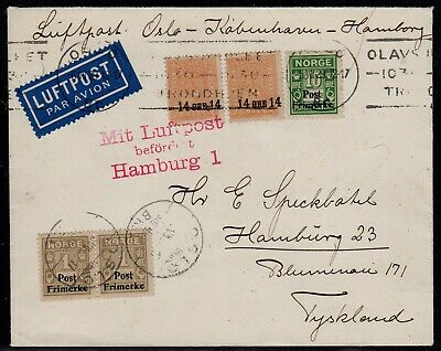 Norway 1929 Airmail cover to Germany