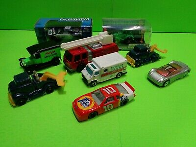 LOT OF 9 1/64  CARS, TRUCKS, NASCAR & TRACTOR / USED Tide #10 Excedrin PM #32