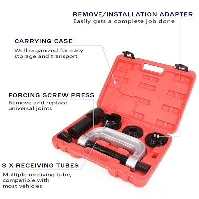 4 IN 1 Auto Truck Ball Joint Service Tool Kit 2/4 Remover Installer Adapters