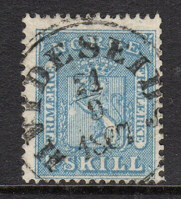 Norway 1863 4sk very fine used, with Hvideseid cancel.
