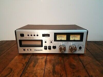 Vintage 1978 Panasonic RS-808 Stereo 8-Track Tape Deck Player Recorder