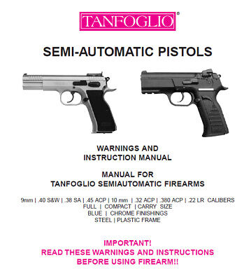 CZ 75 PISTOL Owners Instruction and Maintenance Manual - Ceska