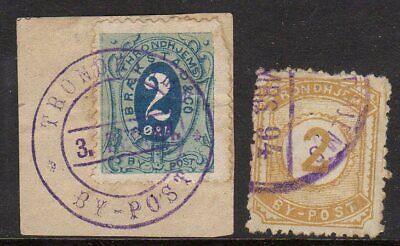 Norway - Trondheim 1878/89 x 2 values fine used