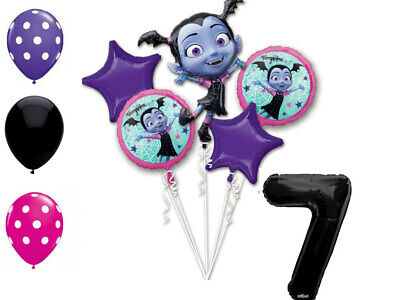 Mayflower Products Vampirina 4th Birthday Balloon Bouquet Decorations and Party Supplies