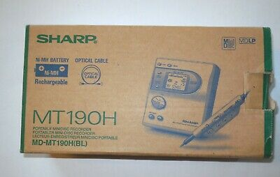 Sharp Minidisc Recorder Player MD MT190H Box 9 Sealed Sony Mini Disc Color 74