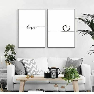 Carteles Love Heart Letter Nordic Posters And Prints Home Decor Wall Art Canvas