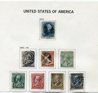 1875-1888 USA.  Part set of 8 USED.