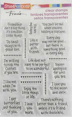 STAMPENDOUS LIFE WORDS Phrases Clear Stamps Cardmaking Craft Scrapbooking