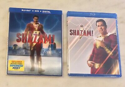 SHAZAM! (Blu-ray + DVD + Digital, 2019) Slipcover; NEW, SEALED, COMPLETE