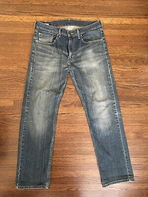 Levis 505 Regular Fit Blue Wash Denim Jeans In 32 X 30 [ Preowned ]