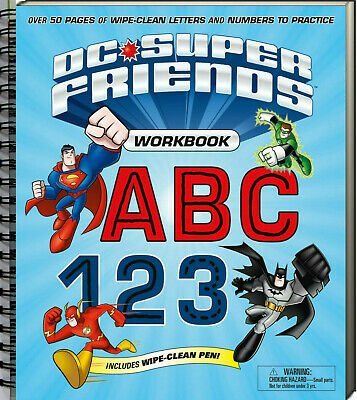 DC Superfriends Wipe Clean Workbook ABC 123 (Paperback) FREE shipping $35