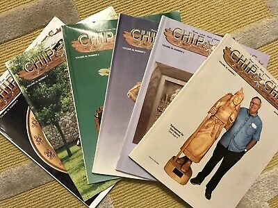 'CHIP CHATS' COMPLETE YEAR Volume 49 1-6 WOOD CARVING MAGAZINES (2002)