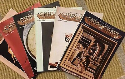 'CHIP CHATS' COMPLETE YEAR Volume 46, 1-6 WOOD CARVING MAGAZINES (1999)