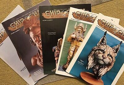 'CHIP CHATS' INCOMPLETE YEAR Volume 45, 2-6 WOOD CARVING MAGAZINES (1998)