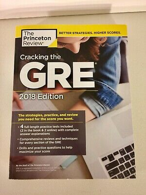 Princeton Review 2018 Edition Cracking The GRE 4 Full Length Tests Included