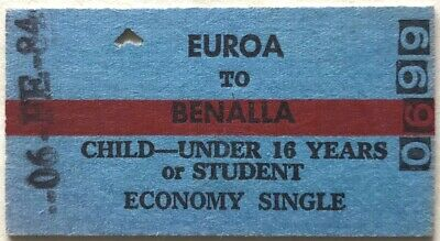 VR Ticket - EUROA to BENALLA - 1984 Child or Student - Economy Single