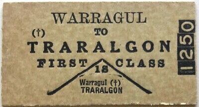 VR Ticket - WARRAGUL to TRARALGON - 1st Class Single