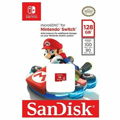 SanDisk Nintendo Switch Micro SD 128GB SDXC Memory Card Nintendo Licensed 100MBs