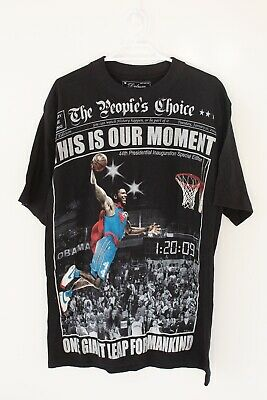 Obama Rare Basketball Men's T Shirt Size M Black 2009 Special Edition