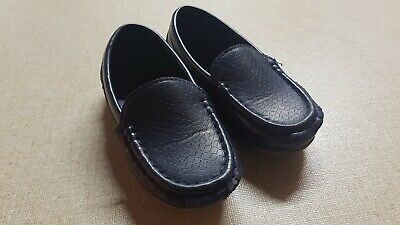 NEW Boys Formal Soft Rubber Sole Loafer MOCCASINS Shoes Blue size 27