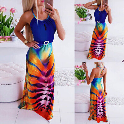 Women Summer Holiday Beach Maxi Long Dress Ladies Evening Party Cocktail Dresses