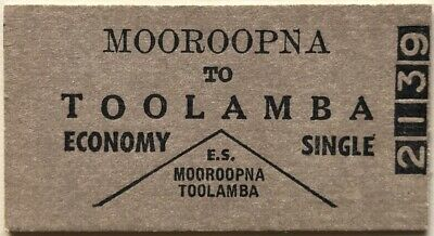 VR Ticket - MOOROOPNA to TOOLAMBA - Economy Single