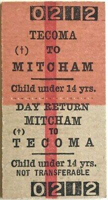 VR Ticket - TECOMA to MITCHAM - Child under 14 Years - Day Return