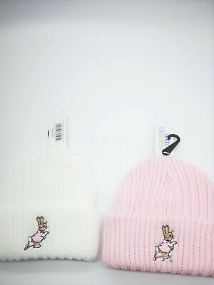 BABY KNITTED POM POM HAT BOBBLE peter rabbit jemima puddle-duck BOYS GIRLS