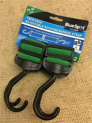 Clearance Lot Z41 Twin Pack Of Wide Flat Adjustable Elastic Bungee Cord Straps