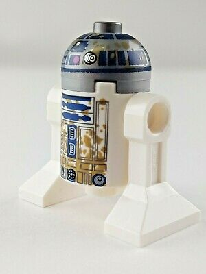 R2-D2 with mud stains from Yoda/'s Hut 75208 New Lego Star Wars Minifigure