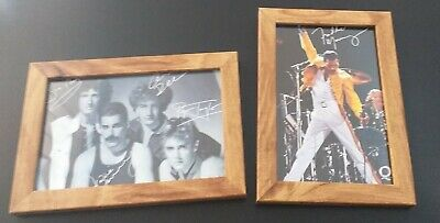 50 Signed Queen Rock Band & Freddie Mercury Autographs 6x4 Framed! 25 of each