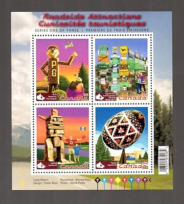Canada 2009 S/Sheet, Roadside Attractions -1-, Uc# 2335   In Mint Condition