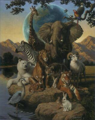 Print by artist J Himsworth - African Animals - Product Code: JH0304  16 x 20