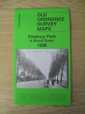 Old Ordnance Survey Map Finsbury Park & Stroud Green 1936