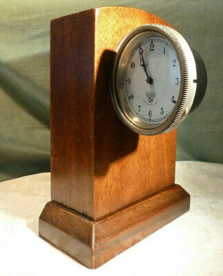 8 Day Dashboard Car Clock Smiths & Sons Motor Accessories M9 Handmade Oak Stand