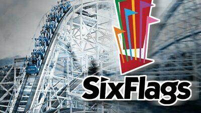 2 ANY SIX FLAGS SINGLE DAY TICKETS Magic Mountain New England Over Georgia Texas